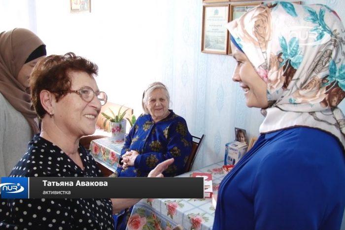 Мусульманки навестили одиноких пенсионеров в доме престарелых